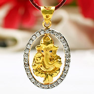 Ganesh Pendant in Gold - 2.32 gms