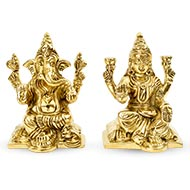 Lakshmi Ganesh in Brass - IV