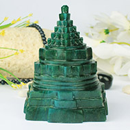 Green Jade Shree Yantra - 983 gms