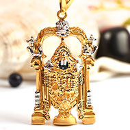 Tirupati Balaji Locket in Pure Gold - 5.63 gms