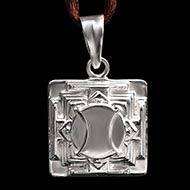 Hanuman Yantra Locket in Silver - 3D