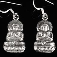 Buddha Earrings in Silver