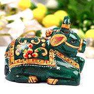 Nandi in Natural Green Jade - 255 gms