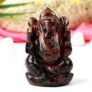 Mahogany obsidian Ganesha - 106 gms