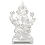 Siddhidayak Ganesh in pure silver