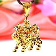 Durga Pendant in pure Gold - 4.25 gms