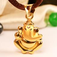 Ganesh Pendant in Gold - 1.37 gms