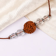 4 Mukhi Rakhi Sphatik Beads with German silver accessories