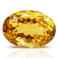 Yellow Citrine - 13 carats - Oval