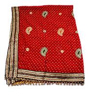 Red Bandhani Mata Ki Chunri - I