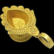 Swastik Diya in Brass