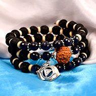 14 mukhi Rudraksha and Blue Sapphire Bracelet (Third Eye)