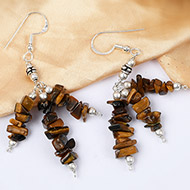 Tiger Eye Uncut Earring