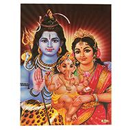 Lord Shiv Parivar Photo - Large - Design I