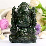 Green Jade Ganesha - 147 gms