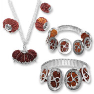 Indrakshi Combination in silver- Nepal beads-..