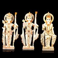 Ram Parivar in white marble idol