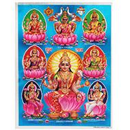 Goddess Ashta Lakshmi Photo - Large