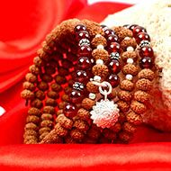 9 Mukhi Rudraksha with Gomed Bracelet - I (Crown)