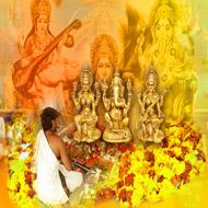 Laxmi Ganesha Saraswati Puja Mantra Japa and Yajna (Homam)