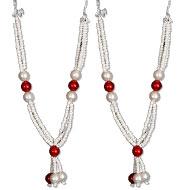 Deity bead Garlands - Set of 2 - Design XII