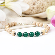Green Onyx and Tulsi Bracelet