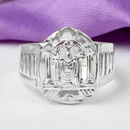 Tirupati Balaji Ring in pure silver - III