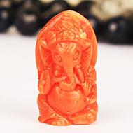 Coral Ganesha - 11.90 carats