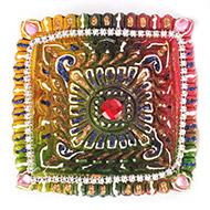 Designer Diwali Earthen Diyas - Set of 2 - De..