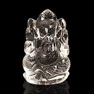 Ganesh Idol in pure quartz - 56 gms - II