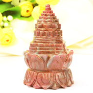 Ruby Shree Yantra on Lotus - 310 gms