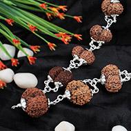 Gauri Shankar Kantha- Java beads in silver