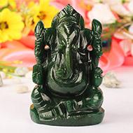 Green Jade Ganesha - 576 gms
