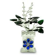 Tulsi plant in pure silver