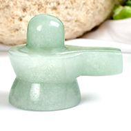 Light Green Jade Shivlinga - 68 gms