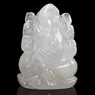 White Agate Ganesha - 109 gms