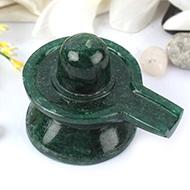 Green Jade Shivlinga - 192 gms