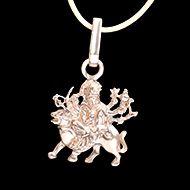 Durga Locket in pure silver - Design XIV