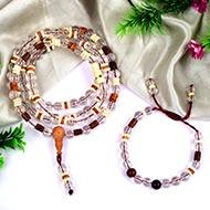 Sphatik mala and bracelet (Crown)