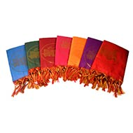 Jai Sri Ram Shawl in Art Silk