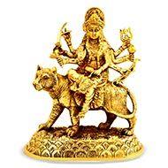 Durga Maa Sherawali in brass - Design I