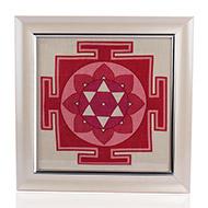 Mahalaxmi Yantra on silk with frame