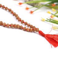 Rudraksha Mala 6mm - Semi Chikna Beads