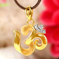 Om Locket in pure Gold - 1.5 gms