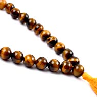 Tiger eye round mala - 12mm