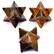 Star Pyramid in Tiger Eye - Set of 3