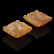 Diyas in Yellow Jade - Set of 2