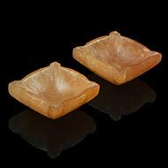 Diyas in Yellow Jade - Set of 2
