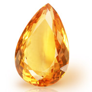 Yellow Citrine - 11.40 carats - Pear