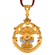 Shivling Pendant in Gold - 9.64 gms